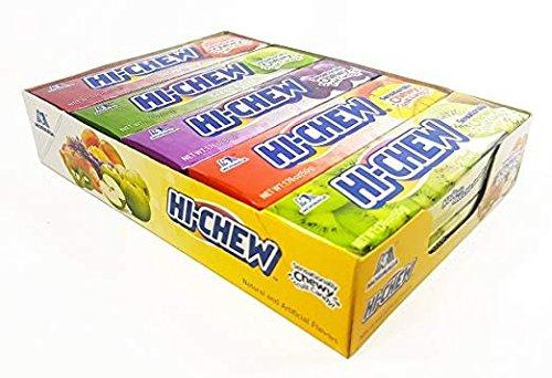 Hi-Chew Sticks Chewy Fruit Candies Variety Pack (Strawberry, Green Apple, Grape, Mango, Kiwi) 10-Pack