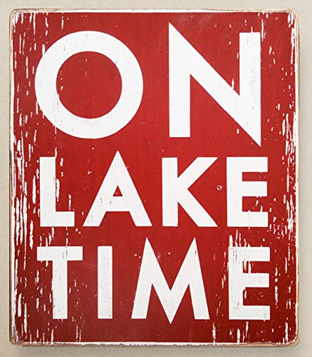 Amazon.com: On Lake Time Rustic Wood Signs with Quotes Funny ...