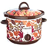 Crock Pot SCR250-FL Slow Cooker Round 2.5 Quart Autumn Leaves Fall