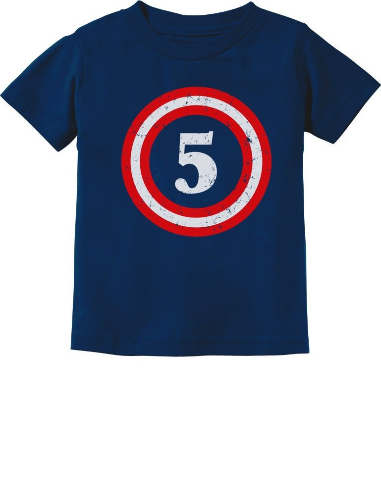 Captain 5th Birthday - Gift for Five Years Old Toddler/Infant Kids T-Shirt 5/6 Navy by Tstars