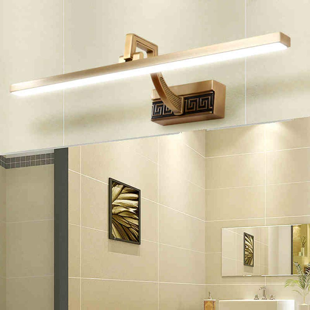 QingYun Trade ホームバスルームミラーヘッドライトLEDバスルーム照明Led一体型ランプヘッド240&Deg;調節可能な暖かい白色光4200K電球付きミラーヘッドライト (Color : 56cm-11w) B07PCJFK58 56cm-11w