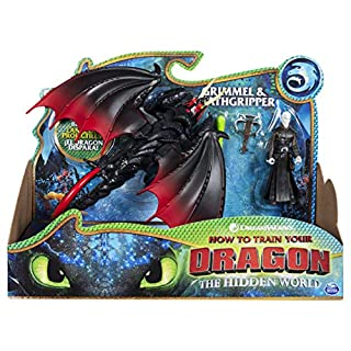 Dreamworks Dragons, Deathgripper and Grimmel, Dragon with Armored Viking Figure, for Kids Aged 4 and Up