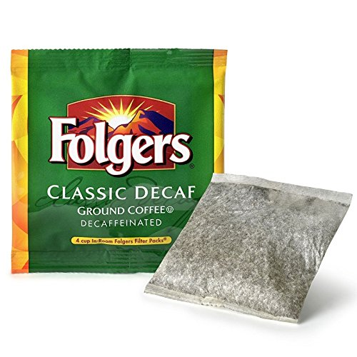 Coffee 4 Cup Filter Pack - Folgers 4 Cup Hotel Decaf Classic Roast Coffee Filter Packs - 200 Ct.