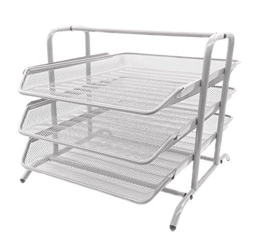 EasyPAG 3 Tier Mesh Desk Organizer Tray File ()