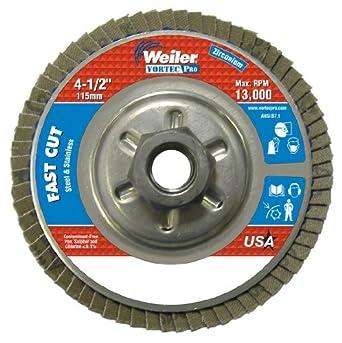 10//PK POWERTEC Zirconia Angle Grinder Flap Disc 4-1//2 x 5//8 120 Grit New