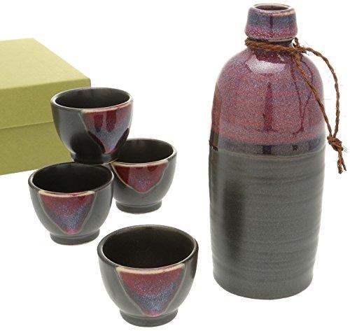Kotobuki Sake set Satin Black and Purple