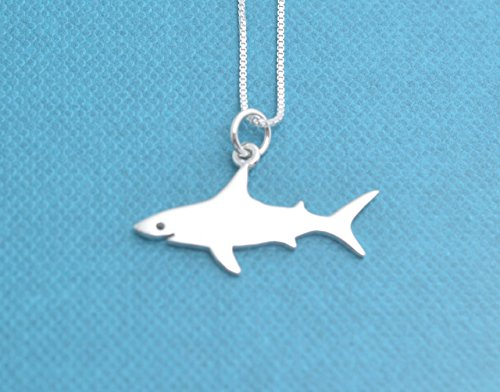 sterling silver shark necklace - 8