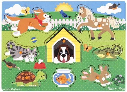 Fish Wooden Puzzle (Melissa & Doug Pets Wooden Peg Puzzle (8 pcs))