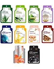 Dearderm Various Solution Face Sheet Masks - Soothing, Firming, Purifying, Moisture, Nurturing, Brightening, Elasticity - Best of The Best Collections