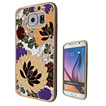 c00213 - Shabby Chic Floral Roses Fun Design Samsung Galaxy S6 Edge Fashion Trend CASE Gold & Clear Gel Rubber Silicone All Edges Protection Case Cover