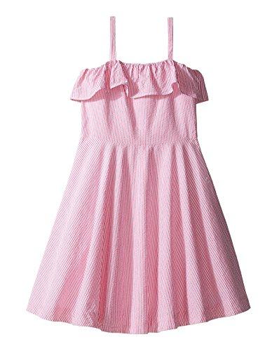 Ralph Lauren Girls Seersucker - RALPH LAUREN Polo Girls Seersucker Sleeveless Dress (Youth 10 Big)