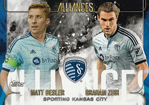 A3 Matt (2015 Topps Apex MLS Alliances #A3 Graham Zusi Matt Besler Soccer Card)