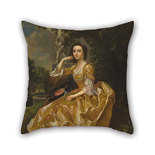 ing Francis Hayman - Mrs. Mary Chauncey Pillow Cases of 16 X 16 inches / 40 by 40 cm Decoration Gift for Husband Chair Home Theater Family Adults Kids (Both Sides) ()
