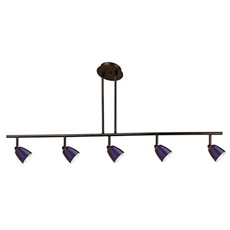 blue track lighting. Cal Lighting SL-954-5-WH/BLS Track With Cobalt Blue