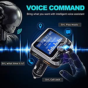 5118ddG%2BXsL. SS300  - Clydek-Bluetooth-FM-Transmitter-Universal-Wireless-FM-Transmitter-Radio-Adapter-Audio-Receiver-Stereo-Music-Tuner-Modulator-Car-Kit-with-USB-Charger-Remote-Control-18-Inch-Large-Screen