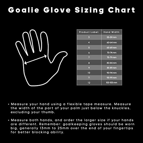 Sondico football glove size chart