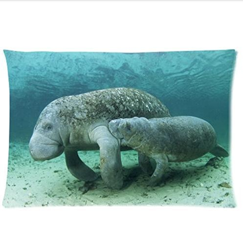 Manatee Pillow Cover 20x30 inches