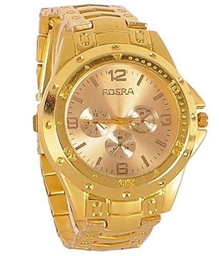 Swadesi Stuff Analog Gold Dial Men's Watch  Old Rosra Golden