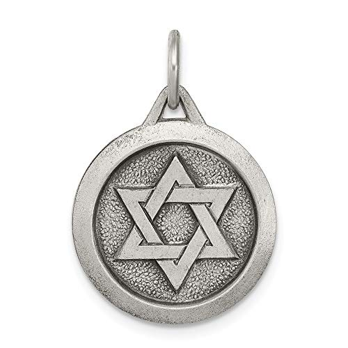925 Sterling Silver Jewish Jewelry Star Of David Medal Pendant Charm Necklace Religious Judaica Fine Jewelry Gifts For Women For Her ()