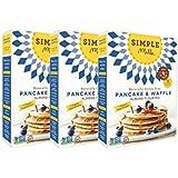 Simple Mills Almond Flour Mix, Pancake & Waffle, Naturally Gluten Free, 10.7 oz (Pack of 3)