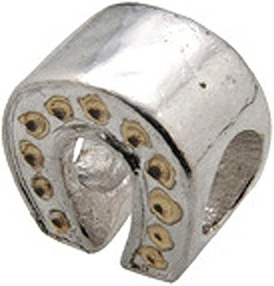 Zable Sterling Silver Horseshoe Bead//Charm