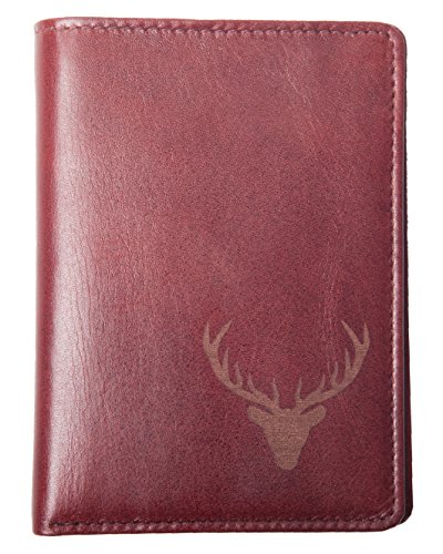 Leather Lederdesign Card Case Business Burgundy hirsch Credit Germany I ANDERS dcqHBWFUwB