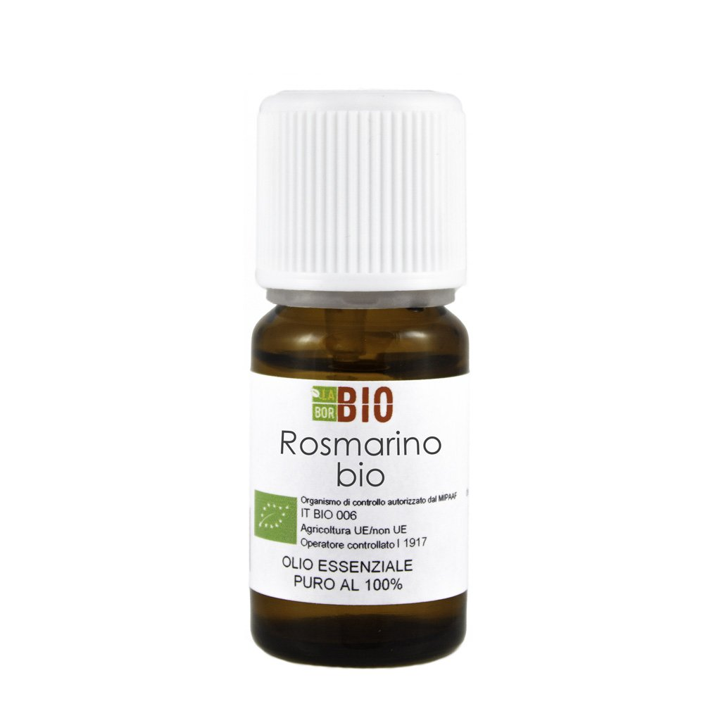 Olio essenziale ROSMARINO BIO 10ML 100% PURO E NATURALE - AROMATERAPIA COSMETICA ALIMENTARE Laborbio