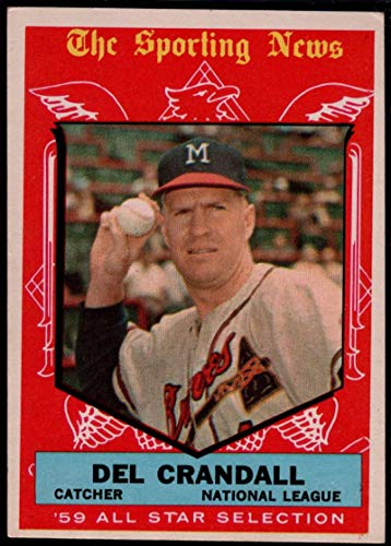 1959 Topps #567 Del Crandall Milwaukee Braves Baseball Card Verzamelingen