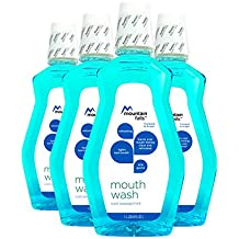 Mountain Falls Mouthwash, Cool Peppermint, Compare to Scope, 33.79 Fluid Ounce (Pack of 4)