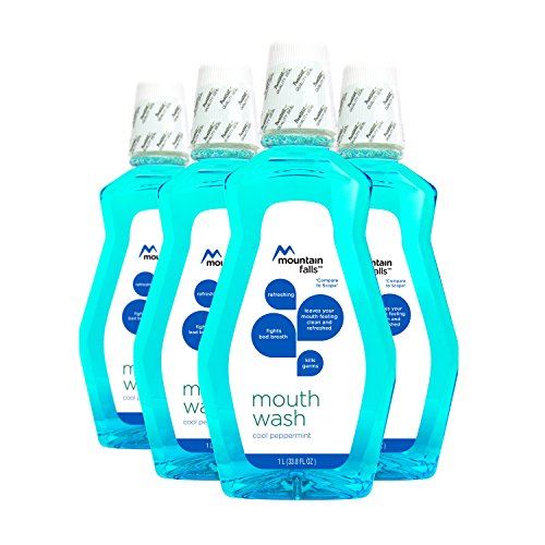 Mountain Falls Mouthwash, Cool Peppermint, 33.79 Fluid Ounce (Pack of 4) (Mouthwash Peppermint)