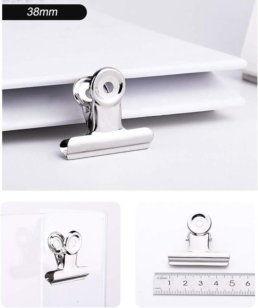 sacs 30/pcs M/étal Binder clips durable Clips d/étanch/éit/é pour documents 38mm Noir papiers photos