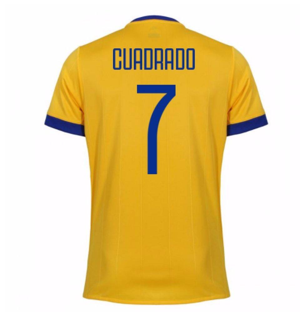 2017-2018 Juventus Away Football Soccer T-Shirt Trikot (Juan Cuadrado 7)