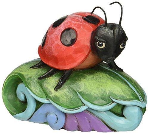 "Jim Shore Heartwood Creek Mini Ladybug Stone Resin Figurine, 2.75"""