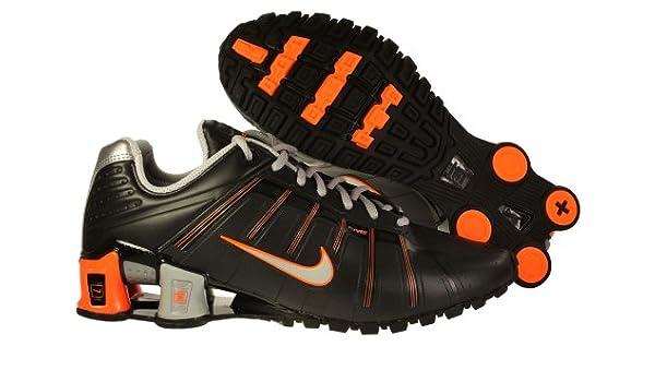 buy popular 9ef5f f16dd Amazon.com   Mens Nike Shox O leven Running Shoes Black   Metallic Silver    Bright Orange 429869-040   Running