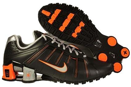... czech amazon mens nike shox oleven running shoes black metallic silver  bright orange 429869 f48fb f3f16 9e0fb8943