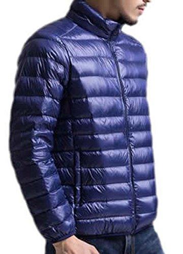 L Leggero Caldo Solido Mens Eku Navy Cappotto Piumini Inverno Blu SI0qx5
