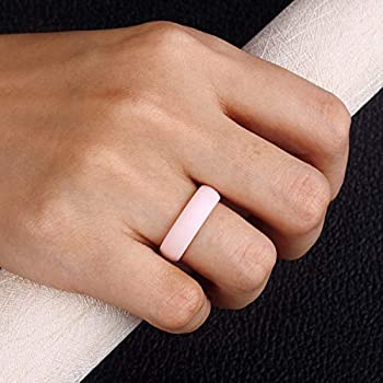 Womens Rubber Engagement Ring Great Replacement Multiple Pack Egnaro Silicone Wedding Ring for Women