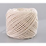 (3mm x 100m(about 109 yd)) Handmade Decorations Natural Cotton Bohemia Macrame DIY Wall Hanging Plant Hanger Craft Making Knitting Cord Rope Natural Color Beige