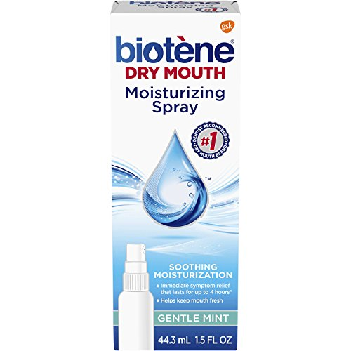 Biotene Gentle Mint Moisturizing Mouth Spray, Sugar-Free, for Dry Mouth and Fresh Breath, 1.5 ounce