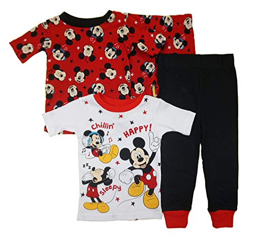 Mickey Mouse Little Boys' Baby Four-Piece Pajama Set (12 Months, Adventure Pals) ()