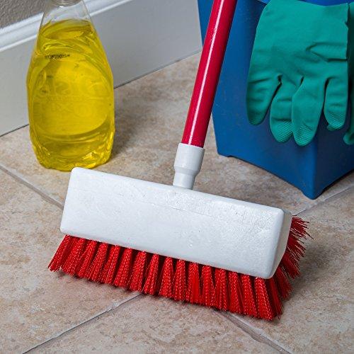Carlisle 4042305 Hi-Lo Floor Scrub Brush, Red (Pack of 12) by Carlisle (Image #4)