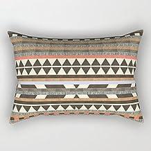 """LOU5KB DG Aztec No1 Canvas Rectangle Decorative Throw Pillow Case Cushion Cover 12""""*20"""""""