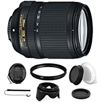 Nikon AF-S DX NIKKOR 18-140mm f/3.5-5.6G ED Vibration Reduction Zoom Lens with Auto Focus and Accessory Kit for Nikon DSLR Cameras