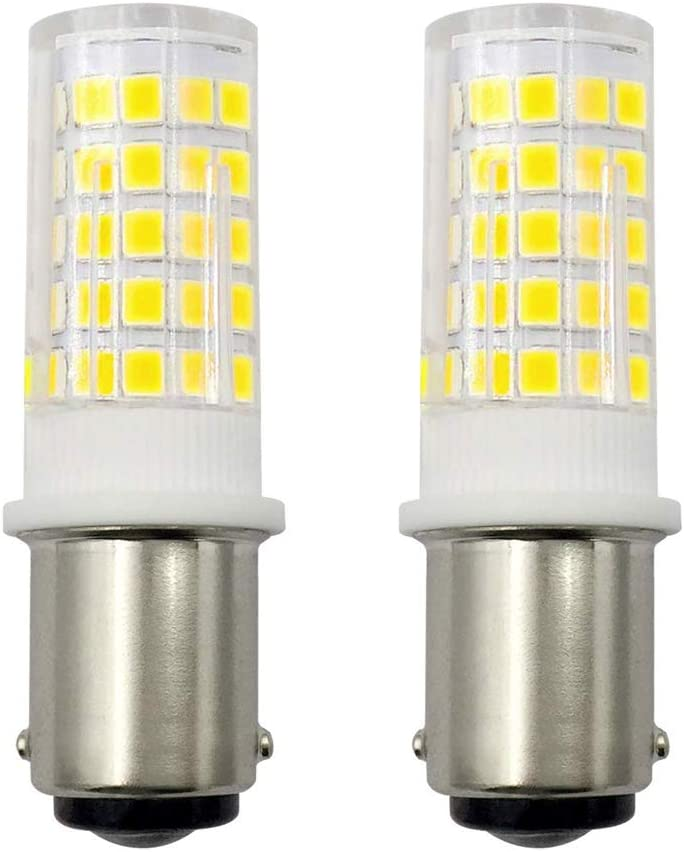 4 W B15 máquina de coser luz B15D LED Dimmbar bombilla 30 W 35 W 40 W halógeno Equivalente SBC pequeñas bayoneta LED bombillas 230 V blanco frío 6000 K (2 unidades) [Multifunción]