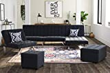 DHP Emily Futon Couch Bed, Modern Sofa Design
