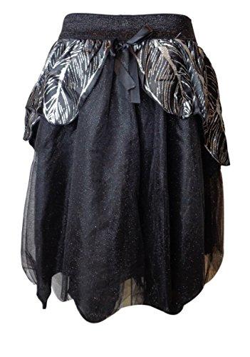 Women's Halloween Black & Silver Glitter Costume Tutu (Target Costumes For Women)