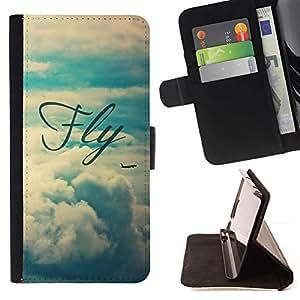 Momo Phone Case / Flip Funda de Cuero Case Cover - Vignette Sky Text - HTC One A9