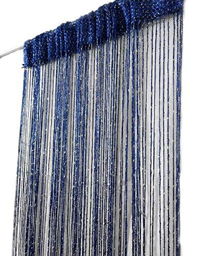 ave split Decorative Door String Curtain Wall Panel Fringe Window Room Divider Blind Divider Tassel Screen Home 100cm200cm (Royal blue18)