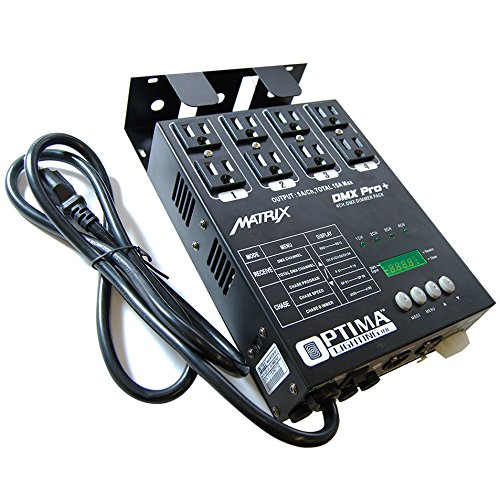 Matrix DMX Dimmer Pro+ Pack 4 Channels Double Output by Optima Lighting by SIRS-E