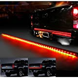 Generic 60 Red/white Waterproof Tailgate LED Strip Light Bar Truck Reverse Brake Turn Signal Tail Light for Ford GMC Chevy Chevrolet Dodge Ram Toyota Nissan Honda Truck SUV 4x4 by Generic